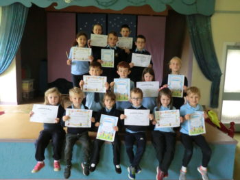 Certificate Winners 22nd September 2017
