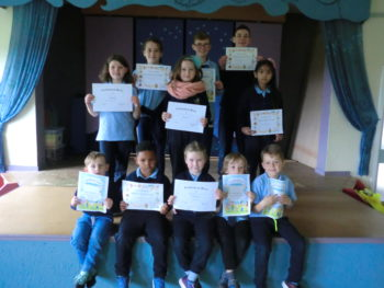 Certificate Winners 15th September 2017